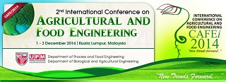 2nd International Conference on Agricultural and Food Engineering (CAFEi2014)