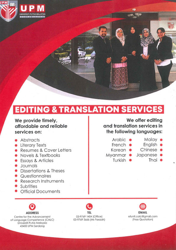 Editing and Translation Services